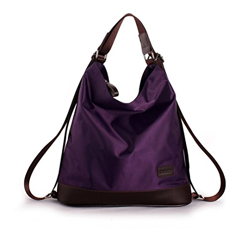 aisi-womens-fashion-pure-color-nylon-collection-multi-function-tote-handbag-shoulder-bag-satchel-bac