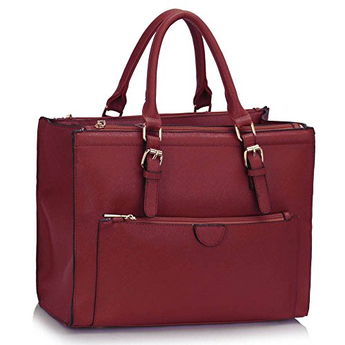 women-handbag-ladies-shoulder-grab-tote-designer-bag-front-pocket-faux-leather