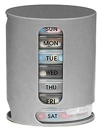 Gison's 7 Days Pill Organizer Pro Storage Case Compact Organize Medicine Weekly Storage Pill Organizer Box Organizer