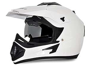 Vega Off Road OR-D/V-W_L Full Face Helmet (White, L)