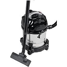 Clatronic BS 1285 - Aspiradora en seco y húmedo, depósito 20 l, 1600 W, color negro