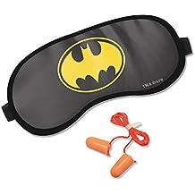MC SID RAZZ DC Comics Batman Sleep Eye Mask, Comfortable & Super Soft Sleeping Mask for Women, Men, Eye Mask for Sleeping with Ear Plugs for Travel Naps Official Licensed Warner Bros,USA