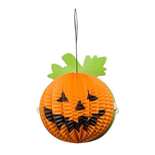 Papier Laternen Halloween Zubita 3D Kürbis Anhänger Papierlampen für Halloween Party Dekorationen 3D Falten von Papierlaternen (Home Kostüme Einfach)