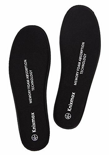 KNIXMAX Damen Memory Foam Einlegesohlen Komfort Warme Sponge Schaum Decksohle Ideal Für Sport und Alltag Arbeit,Laufen,Joggen,Wandern,Hilfe Stoßdämpfung - Optimale Dämpfung - Maximaler Halt