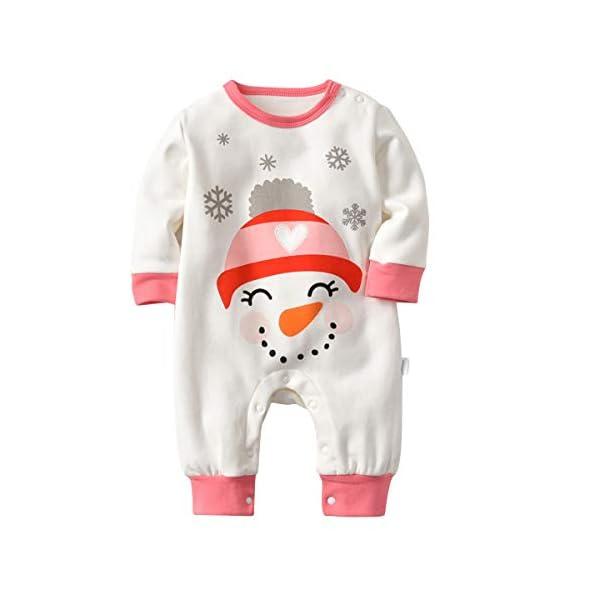 Recién Nacido Pijama Bebés Algodón Niños Niñas Espesar Sleepsuit Navidad Trajes 0-24 Meses 2