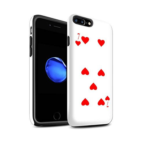 STUFF4 Matte Harten Stoßfest Hülle / Case für Apple iPhone 6 / Pik-König Muster / Kartenspielen Kollektion 7 von Herz