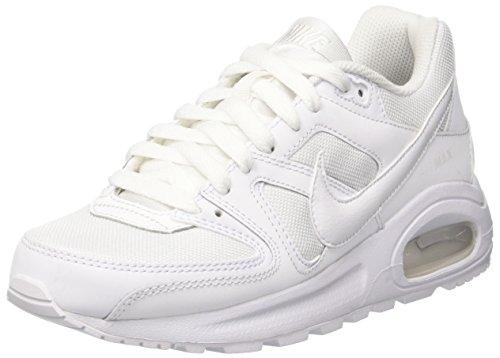Nike Air Max Command Flex, Scarpe da Ginnastica Basse Unisex - Bambini, Bianco (Bianco), 36.5 EU