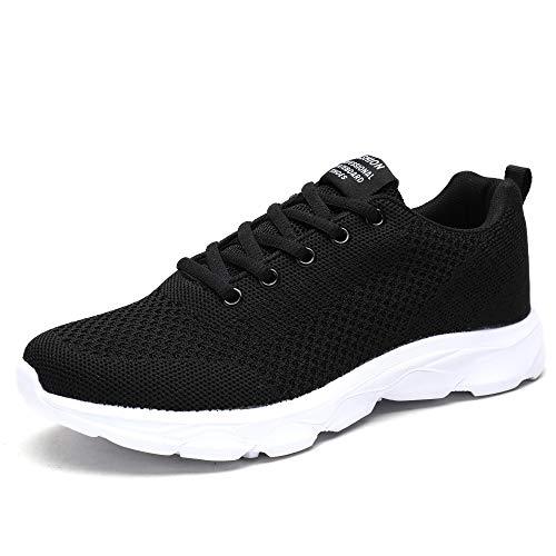 Orktree Damen Sneaker Fitness Laufschuhe Sportschuhe Schnüren Running Schuhe Ultra-Light Turnschuhe, Schwarz B, 41 EU