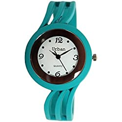 Urban Turquoise Ladies Bracelet Bangle Matt Finish Watch Unique Look Fast Shipping