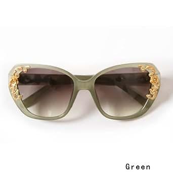 New Luxury Baroque Womens Sunglasses Metal Flower Accessories Vintage Glasses