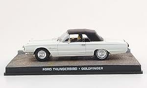 Ford Thunderbird m. figurines, blanche, James Bond 007, 1964, voiture miniature, Miniature déjà montée, SpecialC.-007 1:43