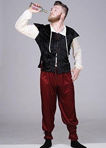 Kostüm Mann Taverne Mittelalterliche - Magic Box Int. Erwachsener Mann der mittelalterlichen Taverne Keeper Kostüm Medium (37-40