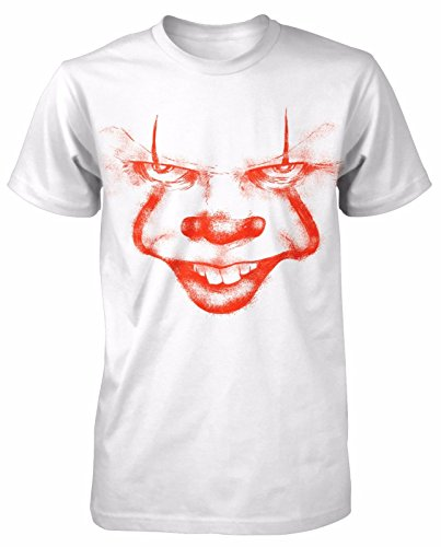 ile T-Shirt Horror Pennywise Clown White Movie Dead Freddy Jason Film ()