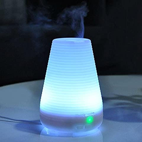 Magicmoon 100ml Aroma Essential Oil Air Diffuser Electric Ultrasonic Cool Mist Humidifier 7 Color Changing LED Night Light, Quite and Auto Shut-off for Bed Room Work Office Home House Baby