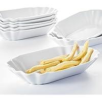 8 tlg Serie Regular Set Pommesschale Porzellan Würstchenteller MALACASA