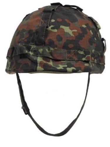 US Helm mit Stoffbezug flecktarn