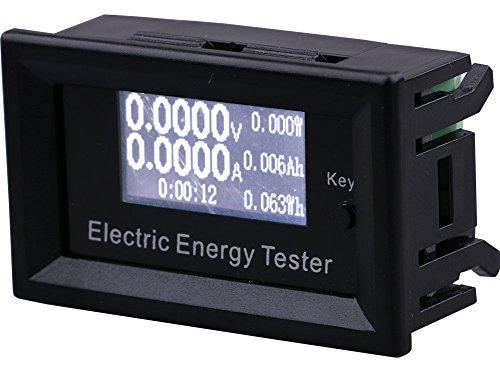 V/a Spur-anschluss (Yeeco DC 0-100V 0-15A Digital Anzeigen Multimeter, LCD Voltmeter Amperemeter Stromspannung Ampere Prüfer Spur Elektrisch Energie Leistung Zeit Meter Batterie Kapazität Monitor DetektorThermometer mit Micro USB 2-Pin-Anschluss für DIY Anschluss)