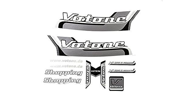 Votone Fahrrad Dekor Satz Aufkleber Rahmen Frame Decal Sticker Votone Label Schwarz Grau Sport Freizeit