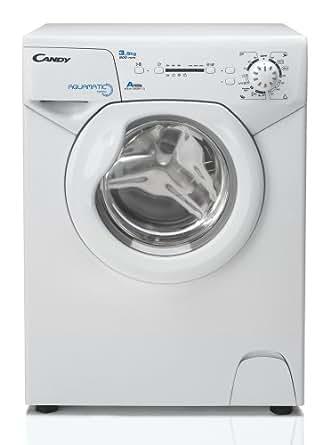 Candy Aqua 835 1D Waschmaschine FL/A/147 kWh/Jahr/800 UpM/3,5 kg/5800 L/Jahr/nur 44 cm tief/nur 69,5 cm hoch/silber