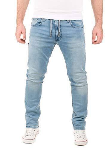 WOTEGA Herren Jeans Noah - Sweathose in Jeansoptik - Männer Jogg-Jeans Slim, Blau (Blue Shadow 3R4020), W33/L32
