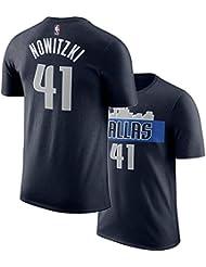 Camiseta De NBA De Los Fanáticos De Los Dallas Mavericks Luka Doncic # 77 Dirk Nowitzki