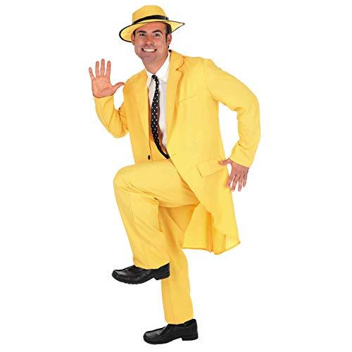Fun Shack Herren Costume Kostüm Mens 90s Yellow Mask Suit, - Charakter Kostüm Männer