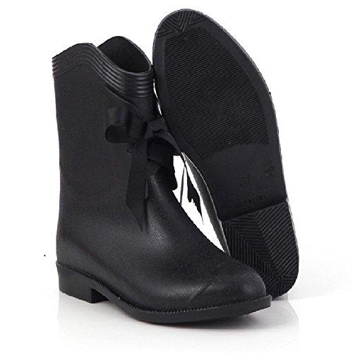 Beiläufige Art und Weisedamen regen Stiefel , black , 36