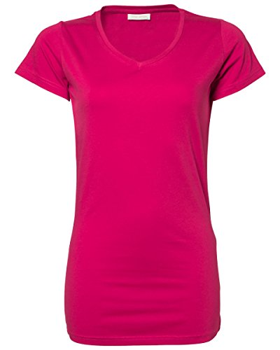 TEE Jays Tee Jays Damen Stretch Tee Extra Lang [TJ455] Hot Pink