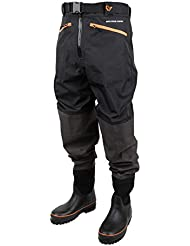 Savage Gear Breathable Waist Wader Boot Foot Cleated 46/47 - 11/12 Wathose