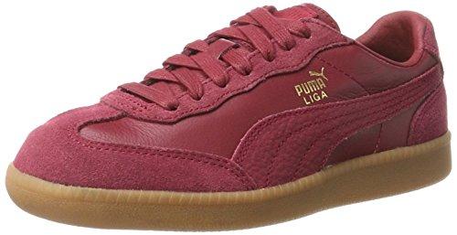 PUMA Unisex-Erwachsene Liga Leather Sneaker, Rot Tibetan Red, 44 - Puma Liga Sneaker