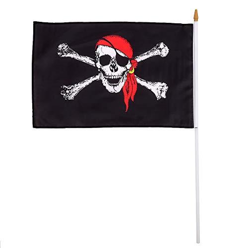 ädel Segeln Piratenflagge Polyester Flagge Mit Pole Home Party 30x45 cm ()