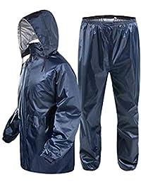 Zacharias Men's Reversible Double Layer Raincoat Rainsuit Free Size