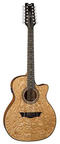 Dean Guitars E UQA 12 GN Exotica Ultra Quilt Ash 12 corde-Chitarra elettroacustica, colore naturale