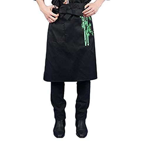 Japanese Style Embroidered Aprons Chef Waist Apron Server Apron Commercial Restaurant Aprons, G
