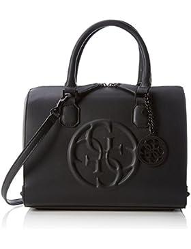 Guess Damen Korry Box Satchel Handtaschen, Schwarz (Nero), One Size
