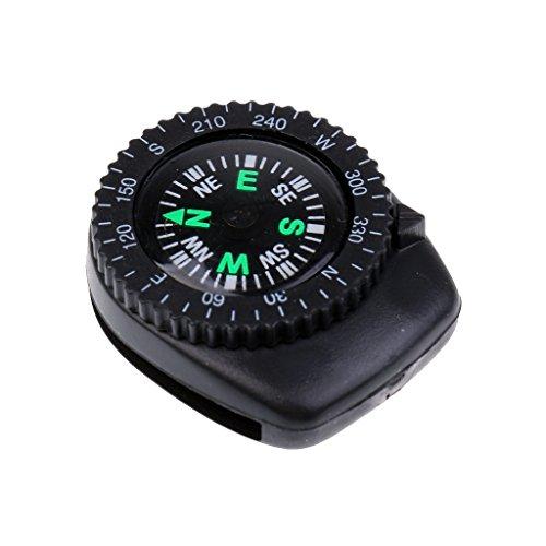 hrband Clip-on Navigation Handgelenk Kompass, Outdoor Kompass, Camping Wandern im Freien Notfall Überleben Werkzeug ()