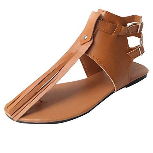 Wawer♔ - Fashion Boden Zehen öffnen Rom High Heels SeilKnöchel Quaste-Große Damenschuhe Frauen Espadrilles Lässig Sandalen Strandschuhe Einzelne Schuhe High Heels High-zehe