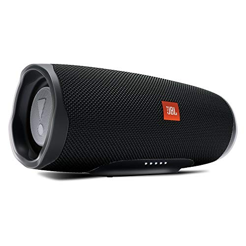 Jbl charge 4 connect+ e bass radiator speaker bluetooth portatile, cassa altoparlante waterproof ipx7 con microfono, porta usb, fino a 20 h di autonomia, nero