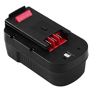 Eagglew 18V 3.0Ah Ni-Mh Replacement Battery for Black&Decker HPB18 A1718 HPB18-OPE 244760-00 A18 A18E Firestorm FS180BX FS18BX FS18FL FSB18 NST2118 Cordless