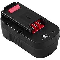 Eagglew Batería de Repuesto para Black&Decker 18V 3.0Ah Ni-MH A18 A1718 HPB18 HPB18-OPE 244760-00 A18NH A18E Firestorm FSB18