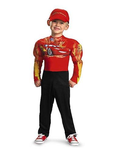 Costume muscoloso con saetta mcqueen, taglia s (4-6 anni)