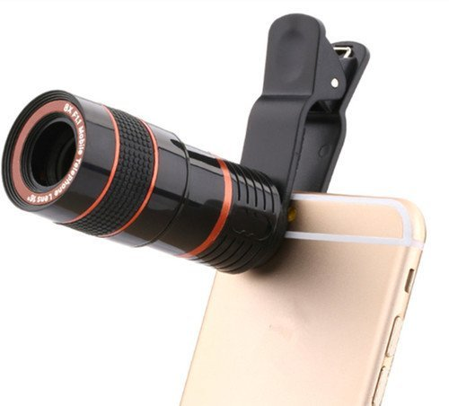 UNIQOUTLET Plastic 8X Zoom Telescope Mobile Camera Lens Convert Phone Into A DSLR Like Camera To Bring Everything Closer