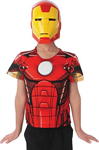 Unbekannt Rubies–ac5616–Kit Kinder Plastron 3D und Maske–PVC–Iron Man