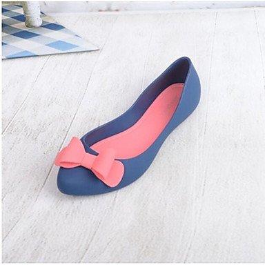 RUGAI-UE Estate Moda Donna Sandali Casual PU scarpe tacchi comfort,l'argento,US8 / EU39 / UK6 / CN39 Blue