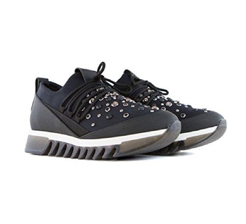 B6690 scarpa donna ALEXANDER SMITH LONDON scarpe scozzese nero/rosso shoe woman [38] W0xCOBsT