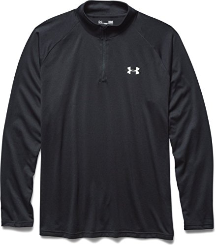 Under Armour Herren Fitness Sweatshirt UA Tech 1/4 Zip, Schwarz Black, M, 1242220-003