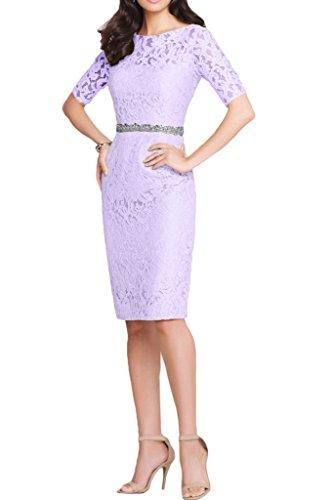 Victory Bridal 2015 Neu Herbst Gruen Spitze Damen Abendkleider Ballkleider Partykleider mit lang Aermeln Knie-lang Lilac