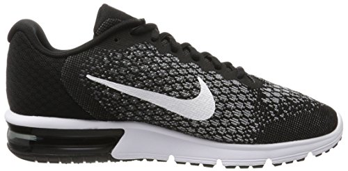 Nike Air Max Sequent 2, Scarpe Running Uomo Nero (Black/White/Dk Grey/Wolf Grey/Volt)