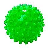 Massageball »Nica« (10cm Durchmesser) in vielen Farben zur Selbstmassage von Triggerpunkten. Idealer Lacrosse Ball / Massagerolle zur punktuellen Behandlung von Verspannung & Verhärtungen ähnlich dem Faszientraining (Faszienrolle) : hellgrün