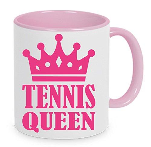 Tennis-Queen - Kaffeetasse, bedruckte Tasse mit Sprüchen oder Bildern - auch individuelle Gestaltung